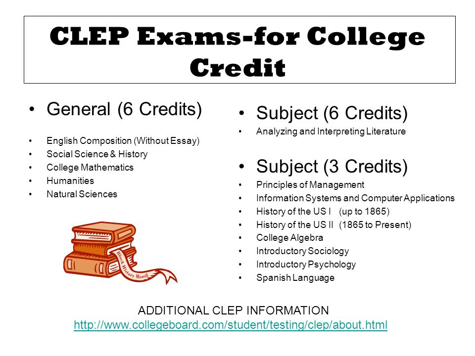 CLEP Exams-for College Credit
