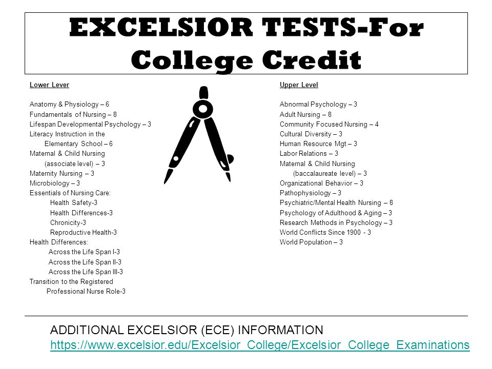 EXCELSIOR TESTS-For College Credit