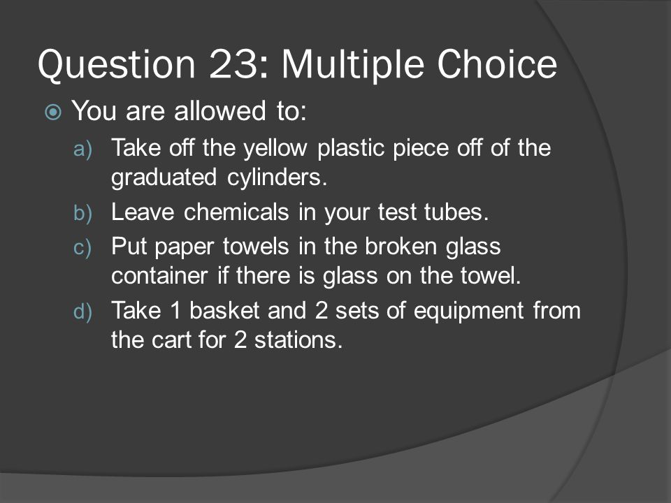 Question 23: Multiple Choice