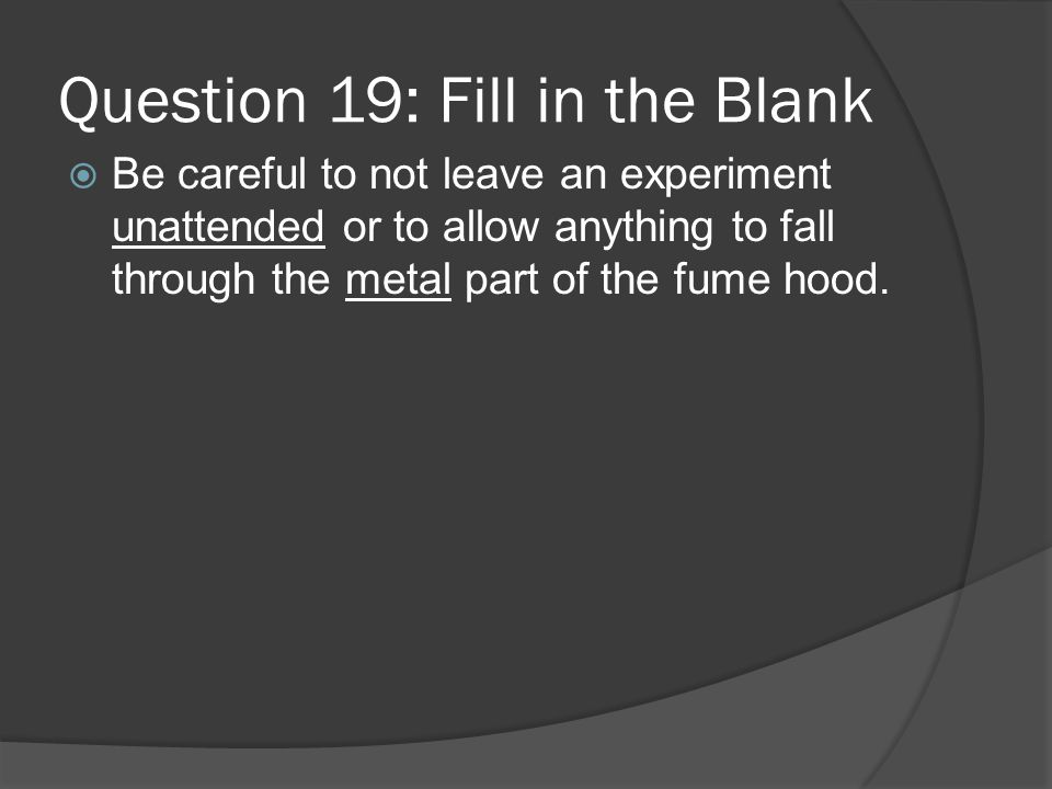 Question 19: Fill in the Blank