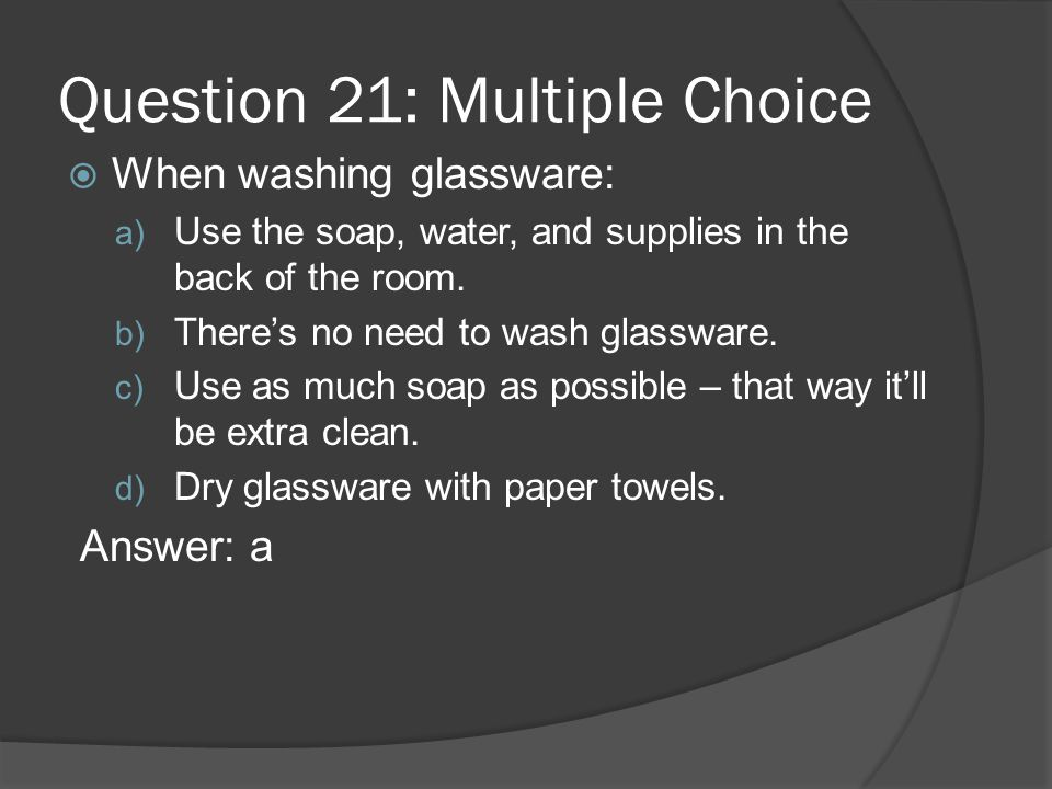 Question 21: Multiple Choice