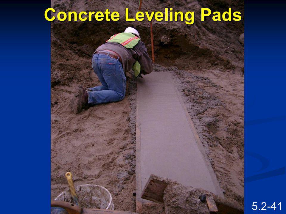 Concrete Leveling Pads
