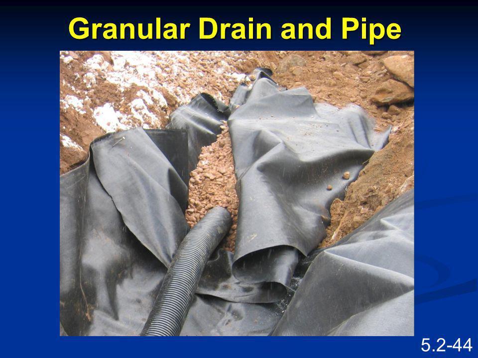 Granular Drain and Pipe