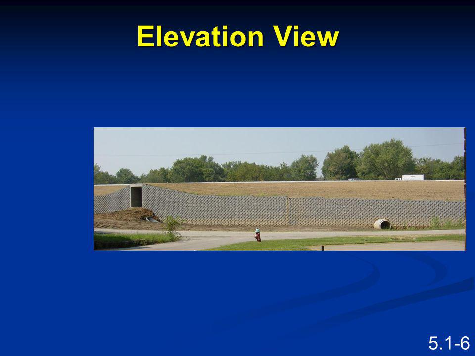 Elevation View Speaking Points This is an elevation view.