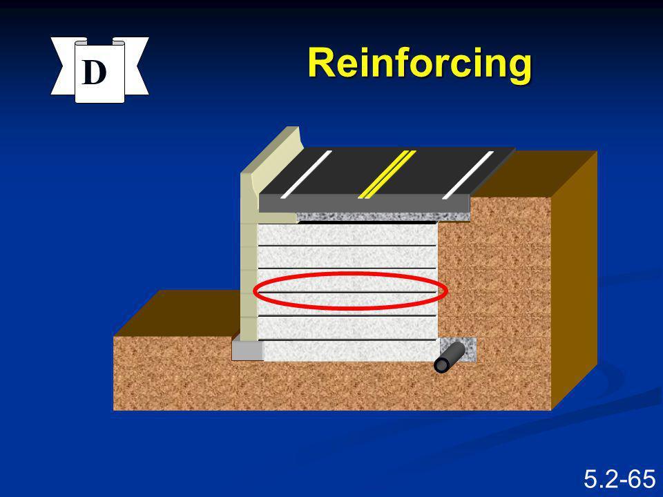 Reinforcing D Barrier Facing Reinforcing Excavation Speaking Points