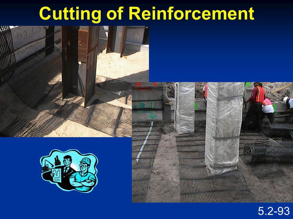 Cutting of Reinforcement