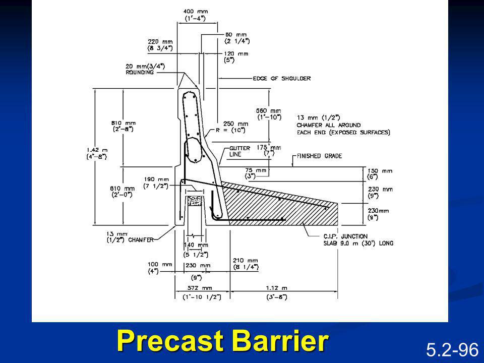 Precast Barrier Speaking Points Precast barrier.