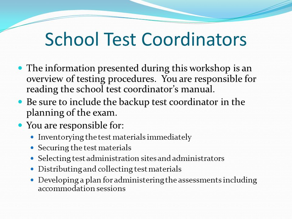 School Test Coordinators