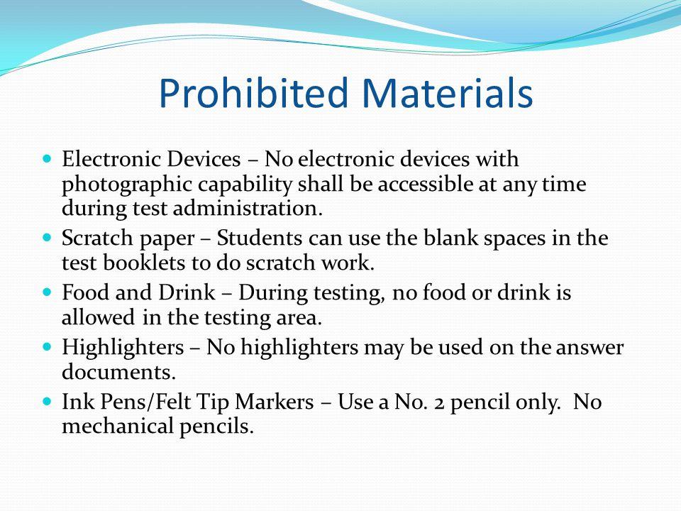 Prohibited Materials
