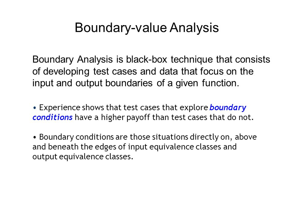 Boundary-value Analysis