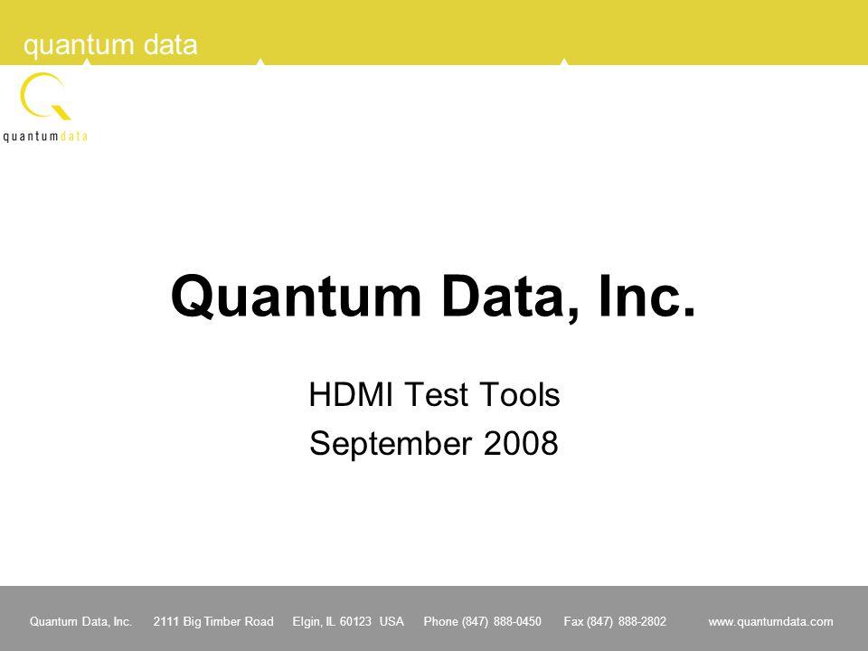 HDMI Test Tools September 2008