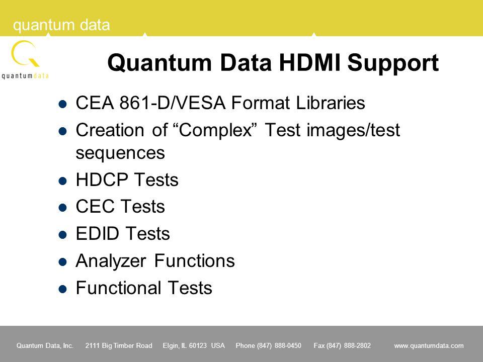 Quantum Data HDMI Support