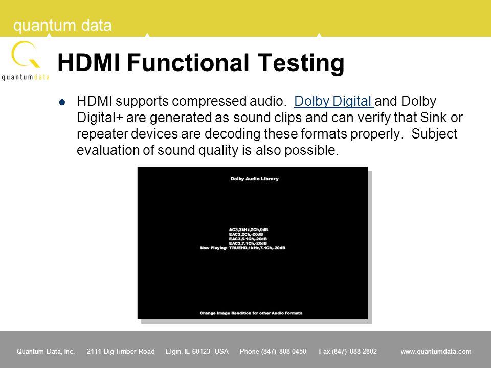 HDMI Functional Testing
