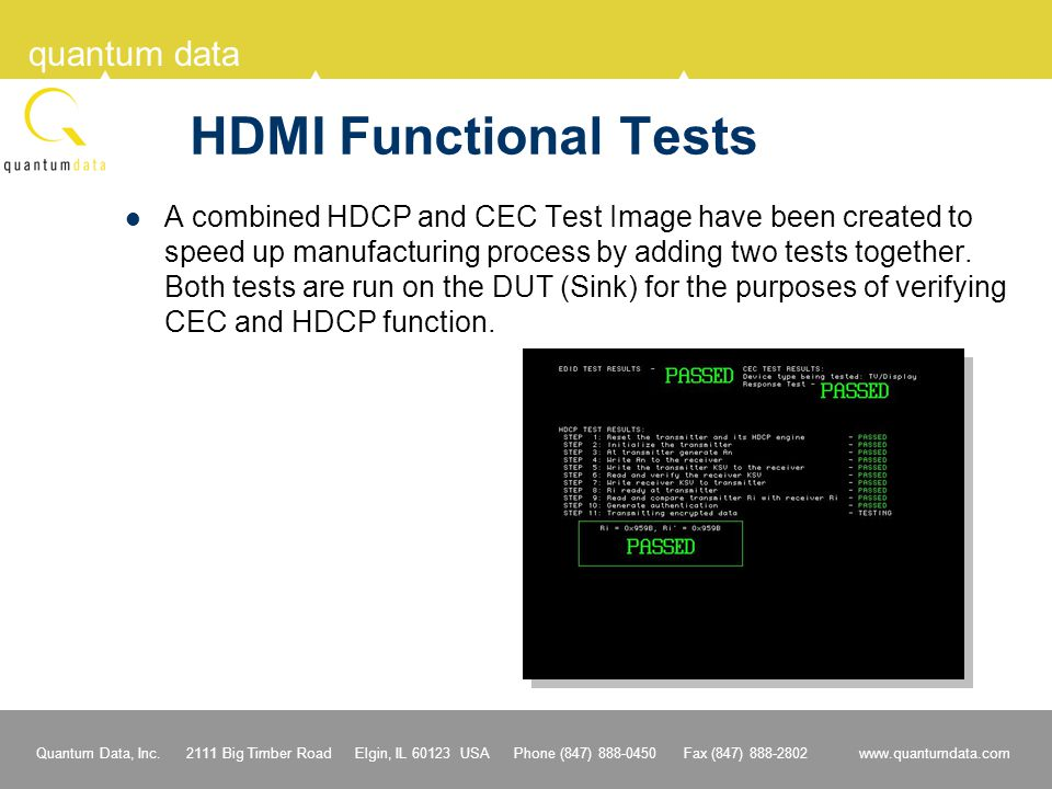 HDMI Functional Tests