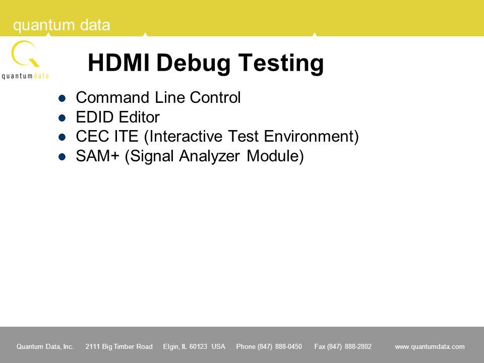 HDMI Debug Testing Command Line Control EDID Editor