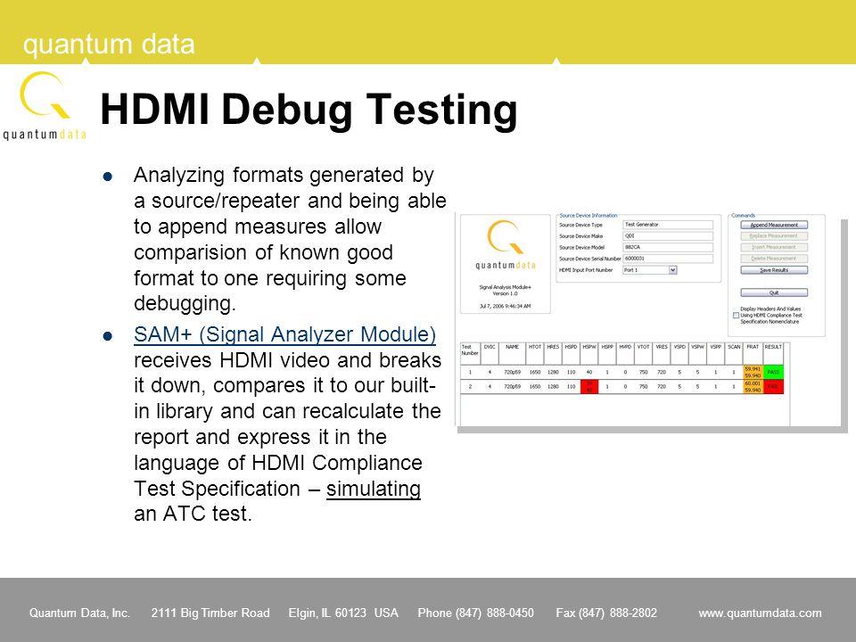 HDMI Debug Testing