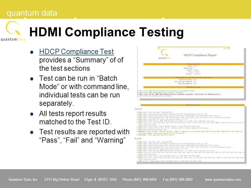 HDMI Compliance Testing