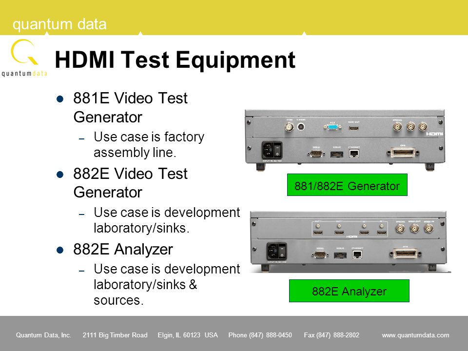 HDMI Test Equipment 881E Video Test Generator