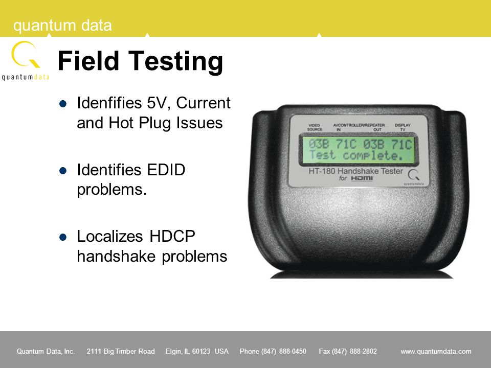 Field Testing Idenfifies 5V, Current and Hot Plug Issues
