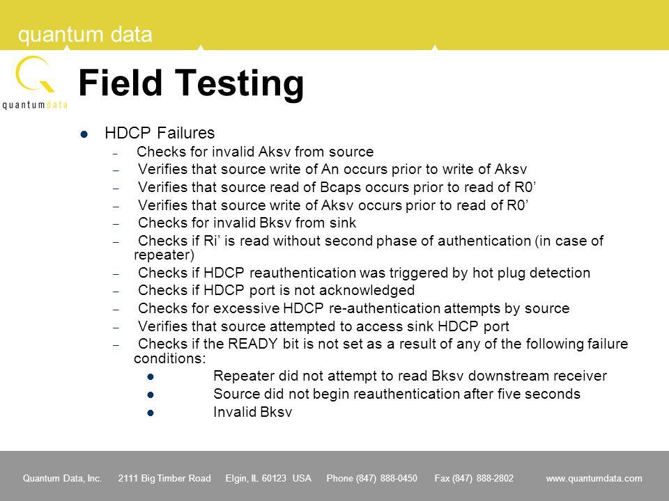 Field Testing HDCP Failures