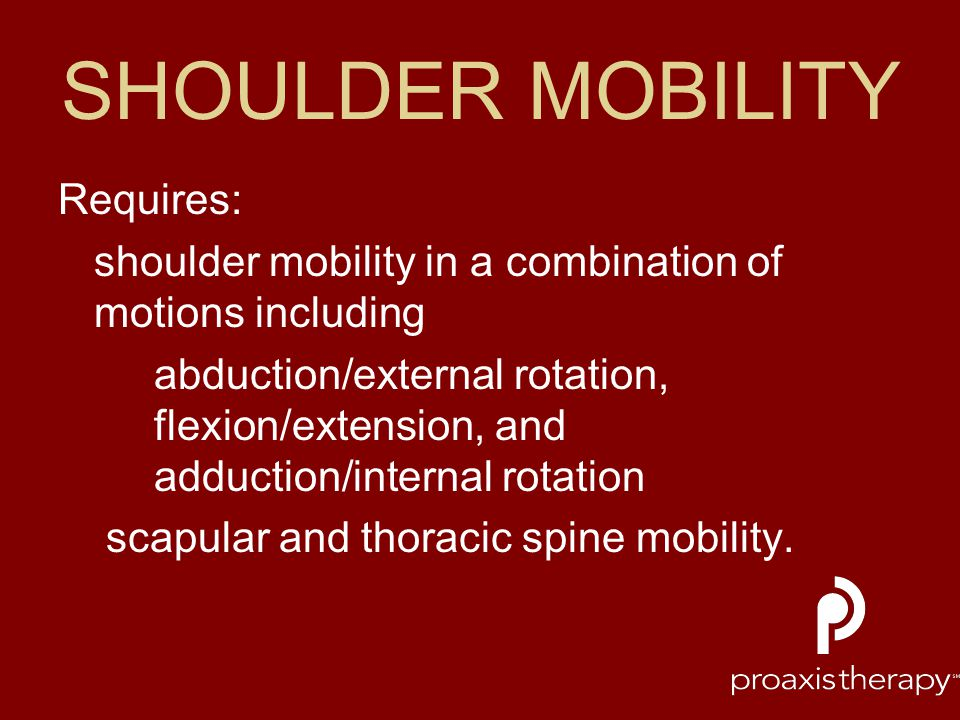 SHOULDER MOBILITY Requires: