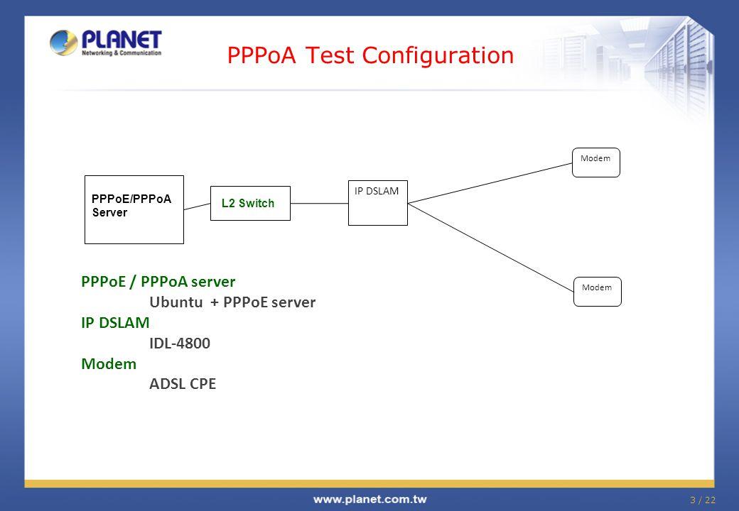 PPPoA Test Configuration