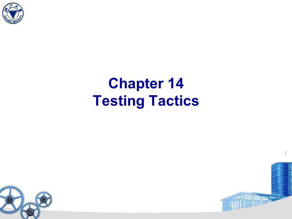 Chapter 14 Testing Tactics