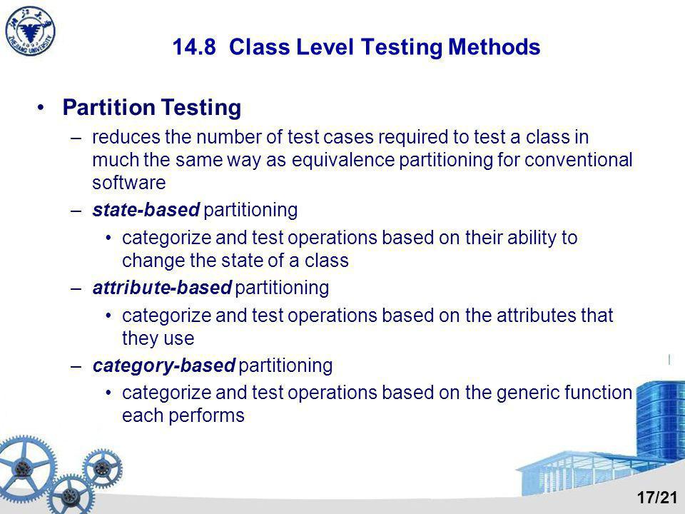 14.8 Class Level Testing Methods