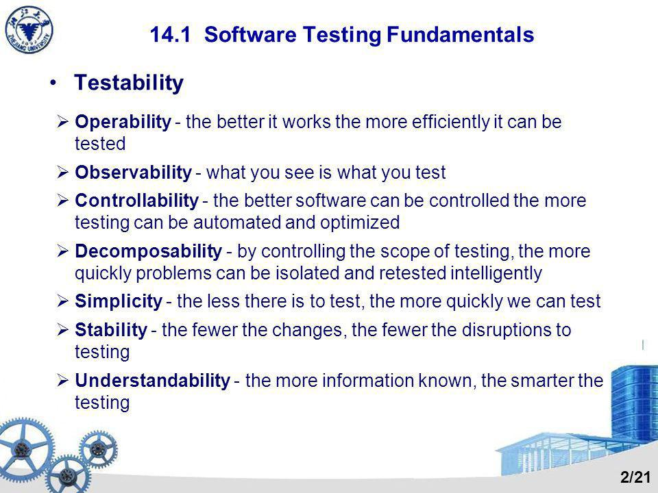 14.1 Software Testing Fundamentals