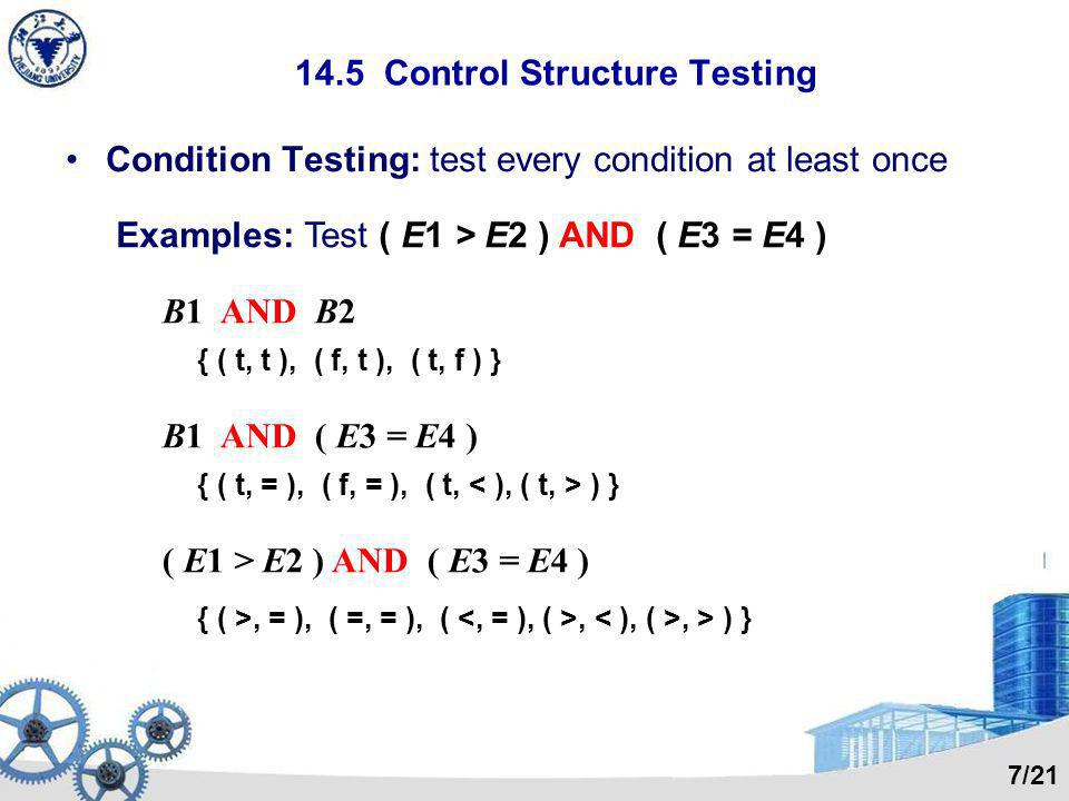 14.5 Control Structure Testing