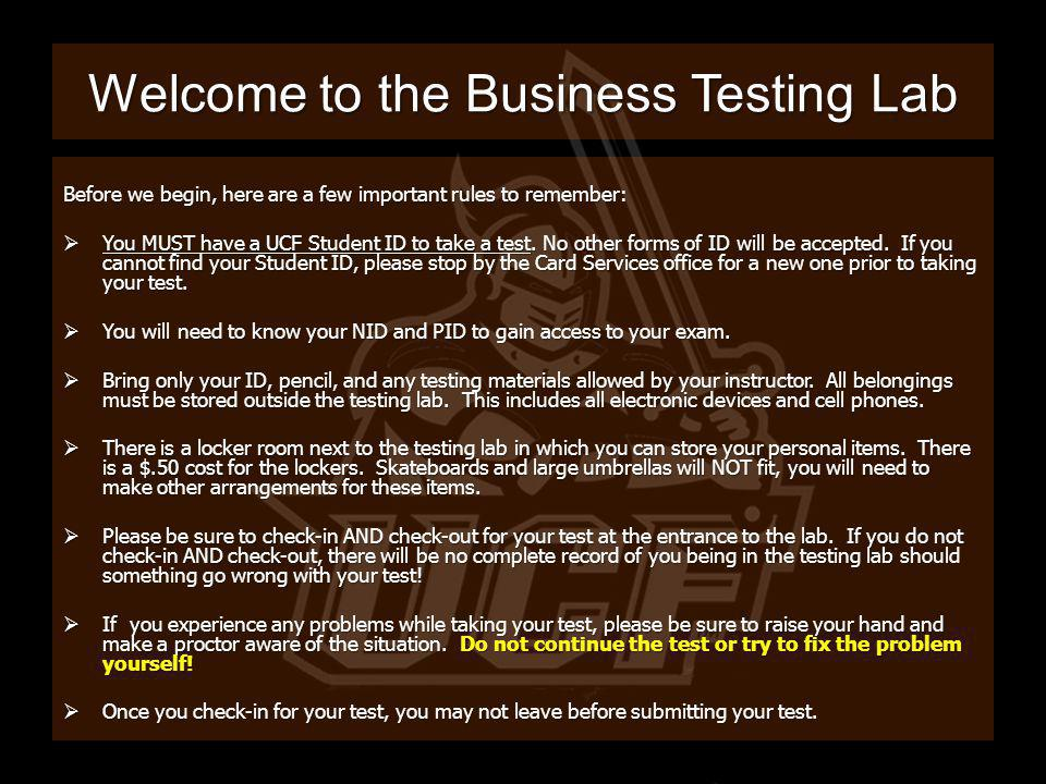 Welcome to the Business Testing Lab