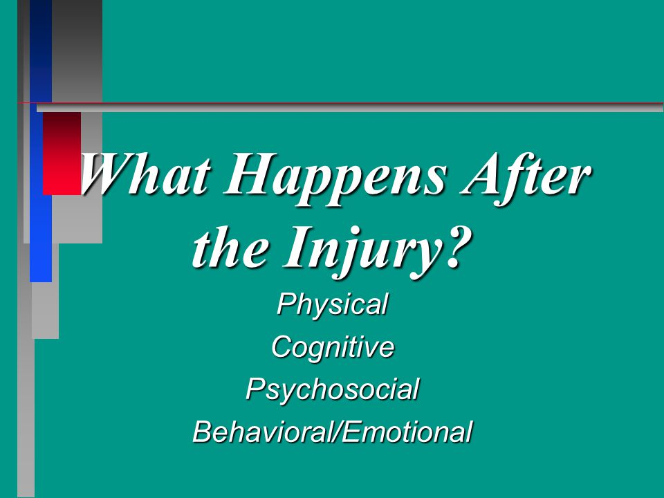 What Happens After the Injury