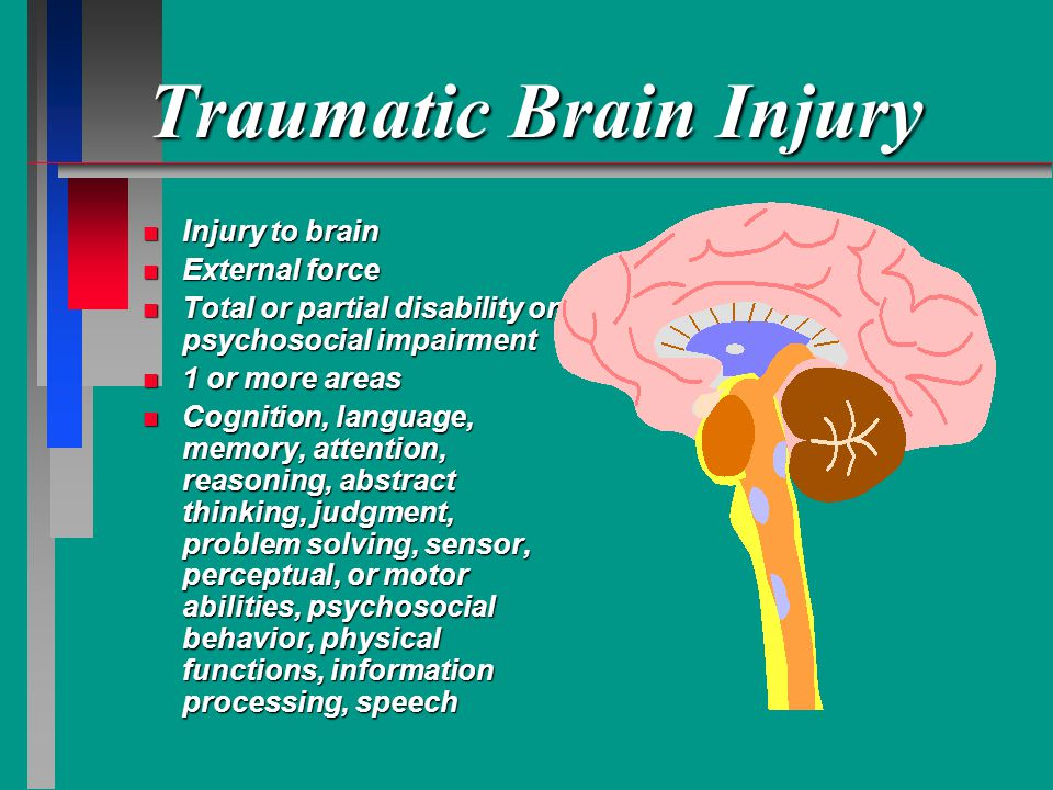 PERSONALITY CHANGES IN BRAIN INJURY