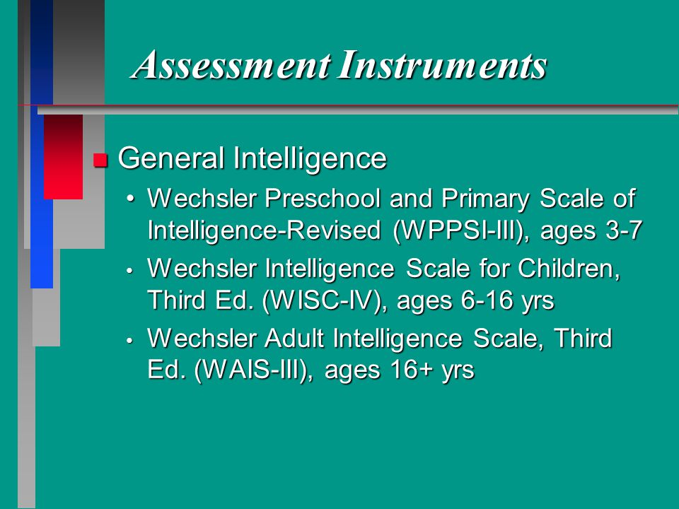 the wechsler preschool and primary scale of intelligence traumatic brain injury in children and adolescents ppt 832