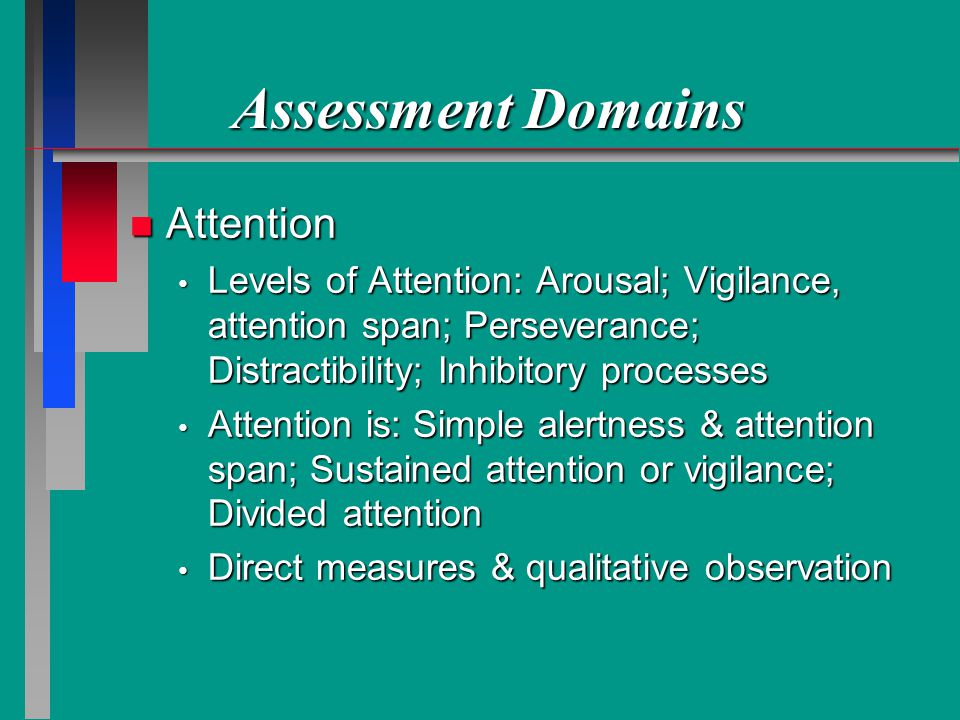 Assessment Domains Attention