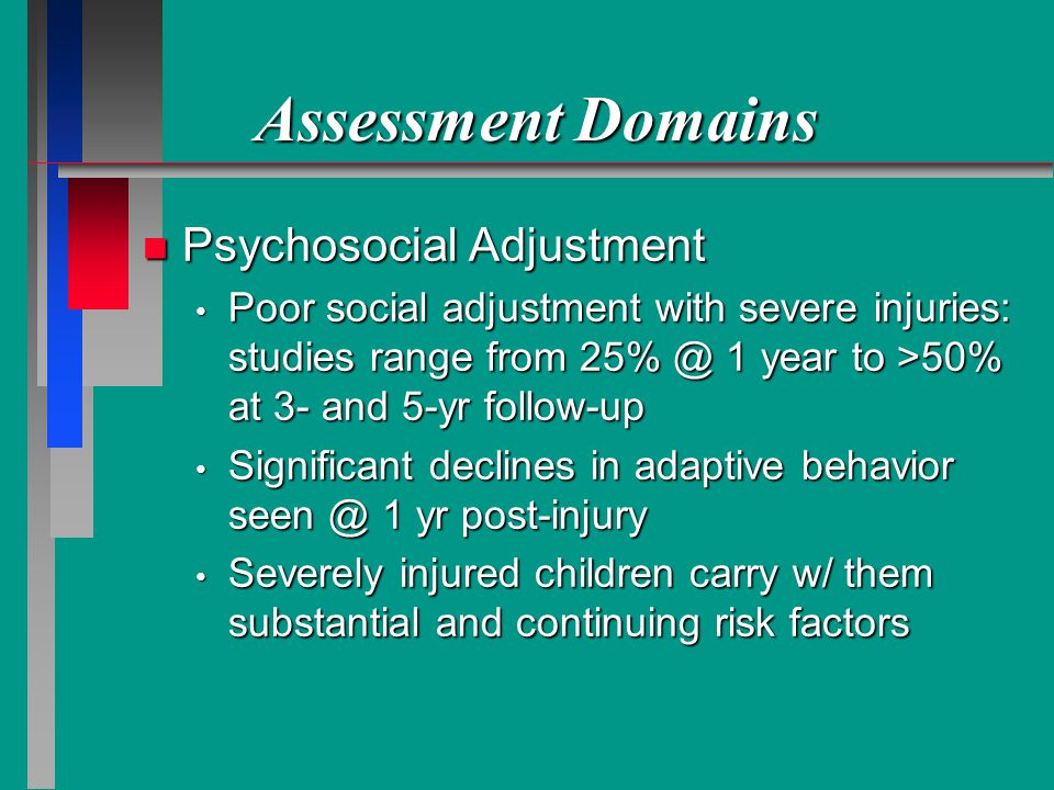 Assessment Domains Psychosocial Adjustment