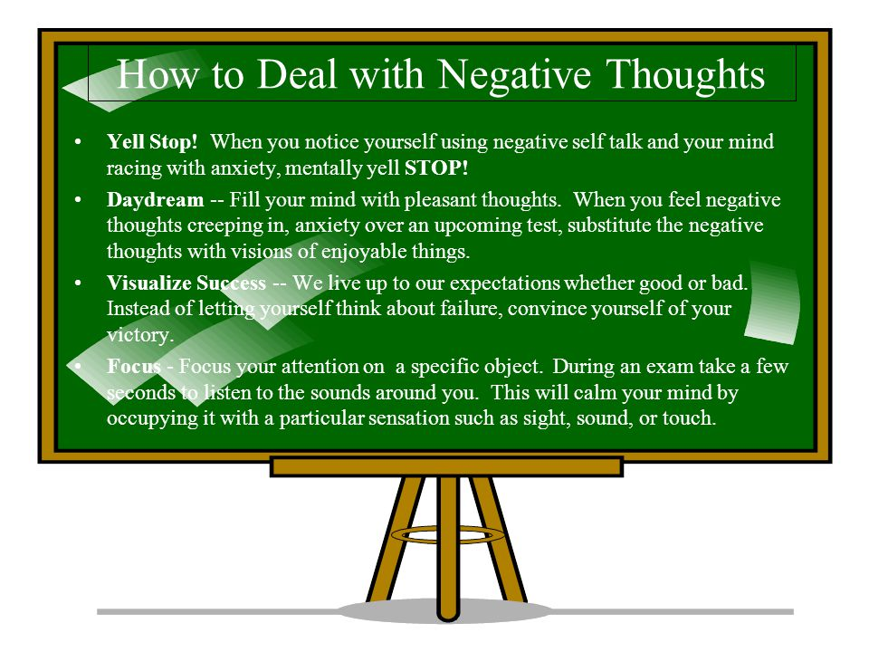 How to Deal with Negative Thoughts