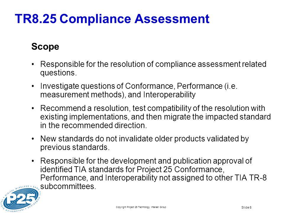 TR8.25 Compliance Assessment