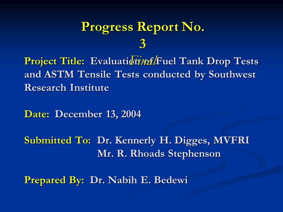 Progress Report No. 3 Final