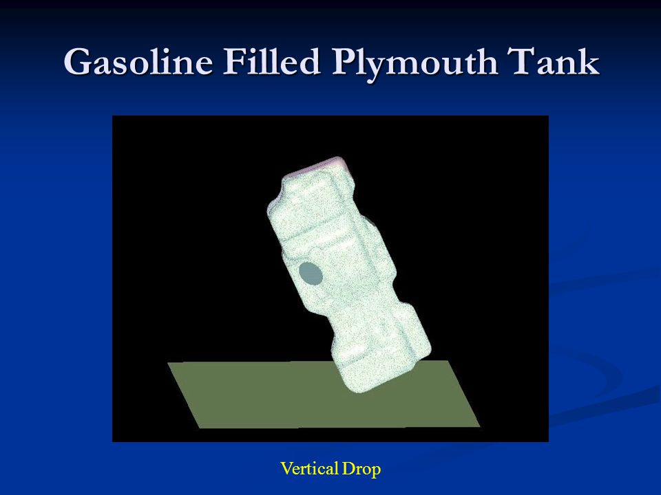 Gasoline Filled Plymouth Tank