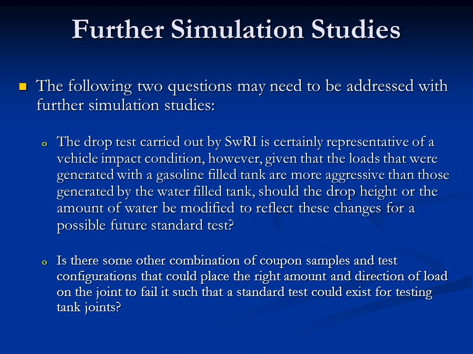 Further Simulation Studies
