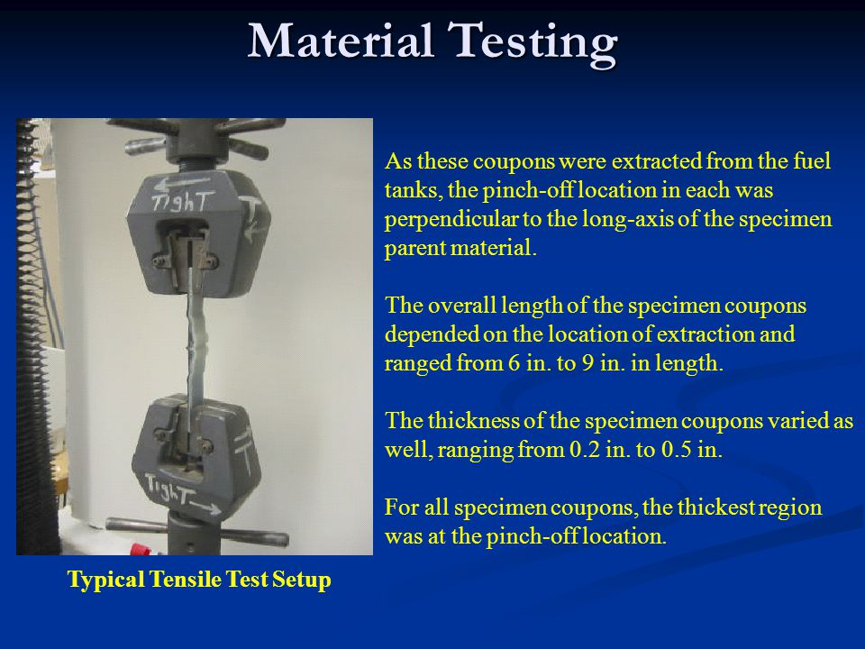 Typical Tensile Test Setup