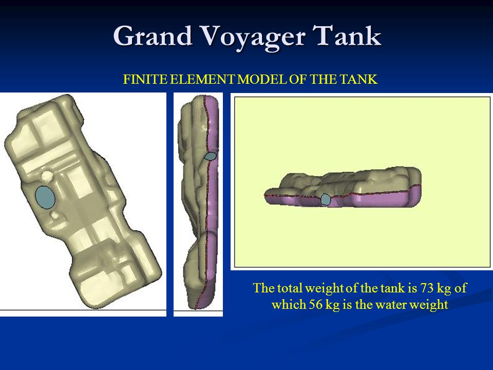 FINITE ELEMENT MODEL OF THE TANK