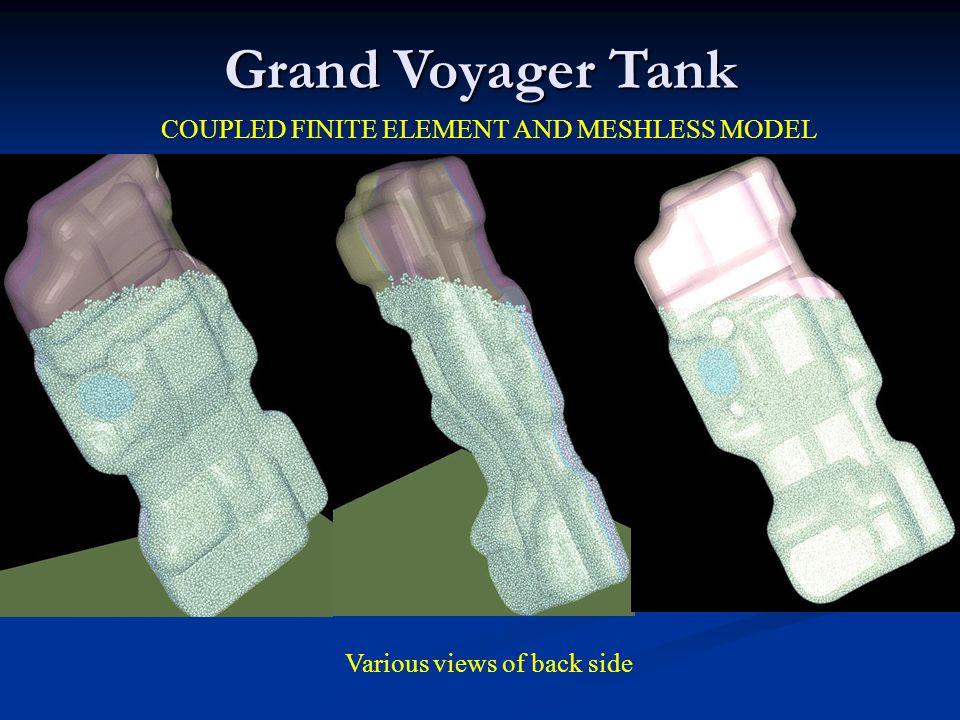 Grand Voyager Tank COUPLED FINITE ELEMENT AND MESHLESS MODEL