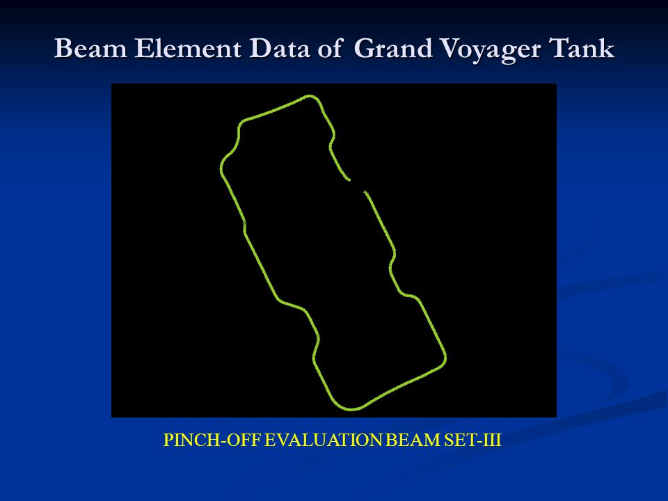 Beam Element Data of Grand Voyager Tank