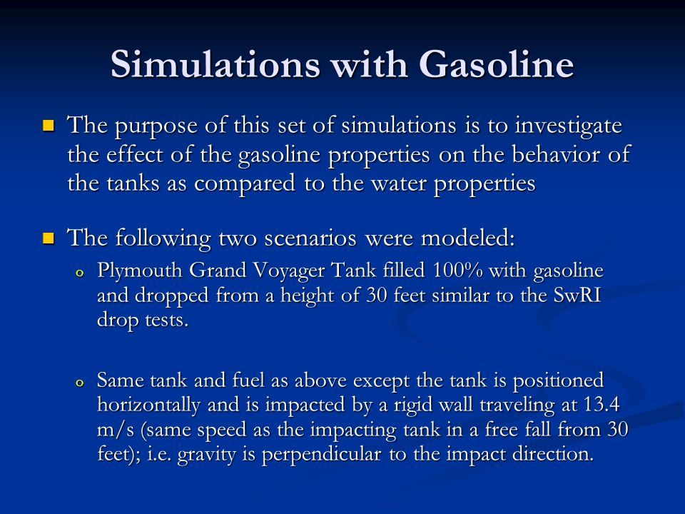 Simulations with Gasoline