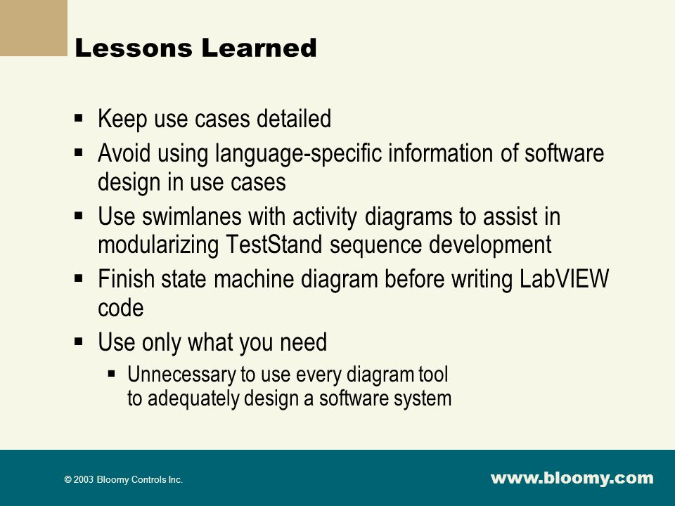Keep use cases detailed