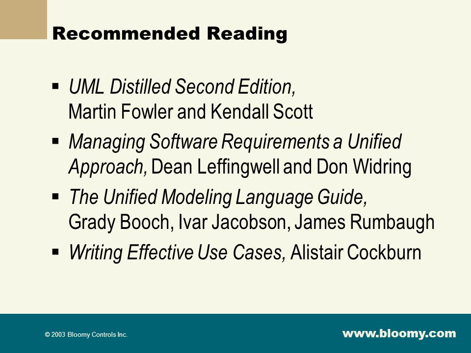 UML Distilled Second Edition, Martin Fowler and Kendall Scott