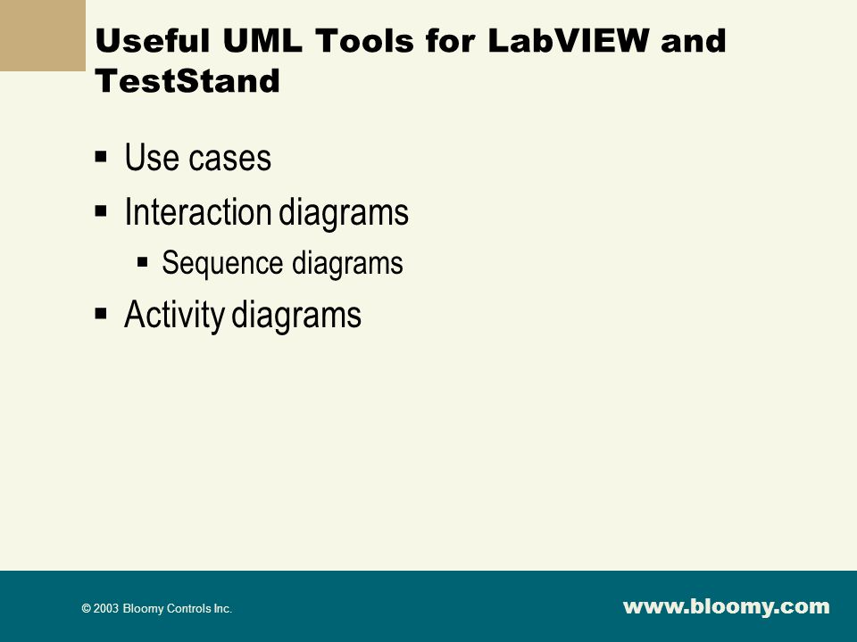 Useful UML Tools for LabVIEW and TestStand