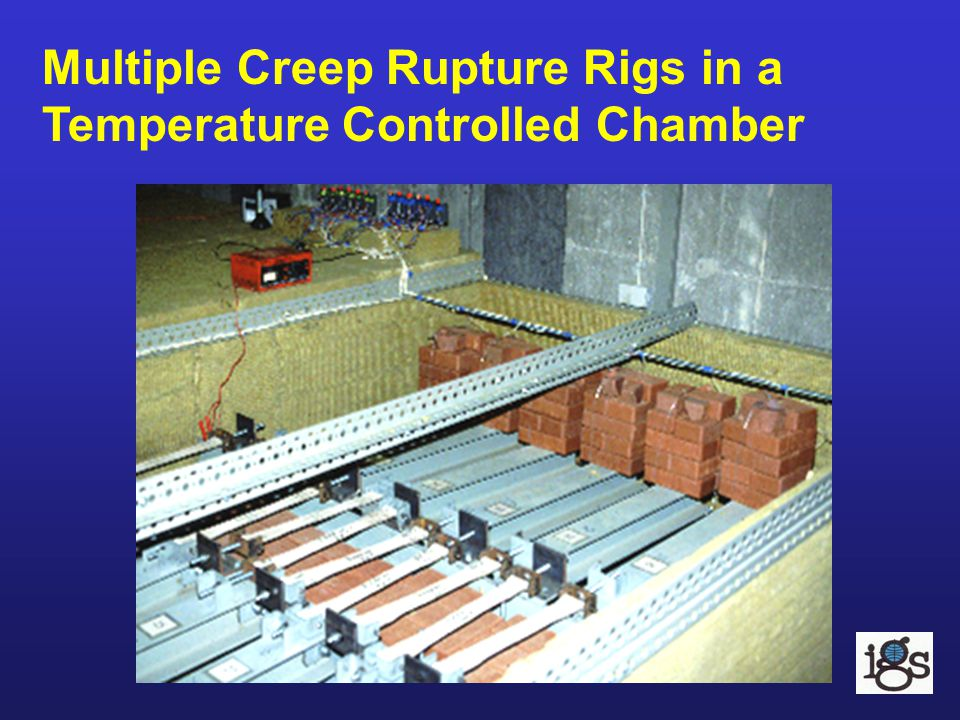 Multiple Creep Rupture Rigs in a Temperature Controlled Chamber